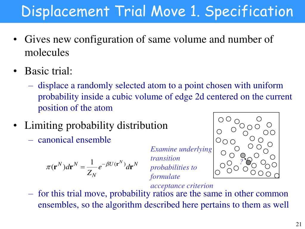 Displacement Trial Move 1. Specification