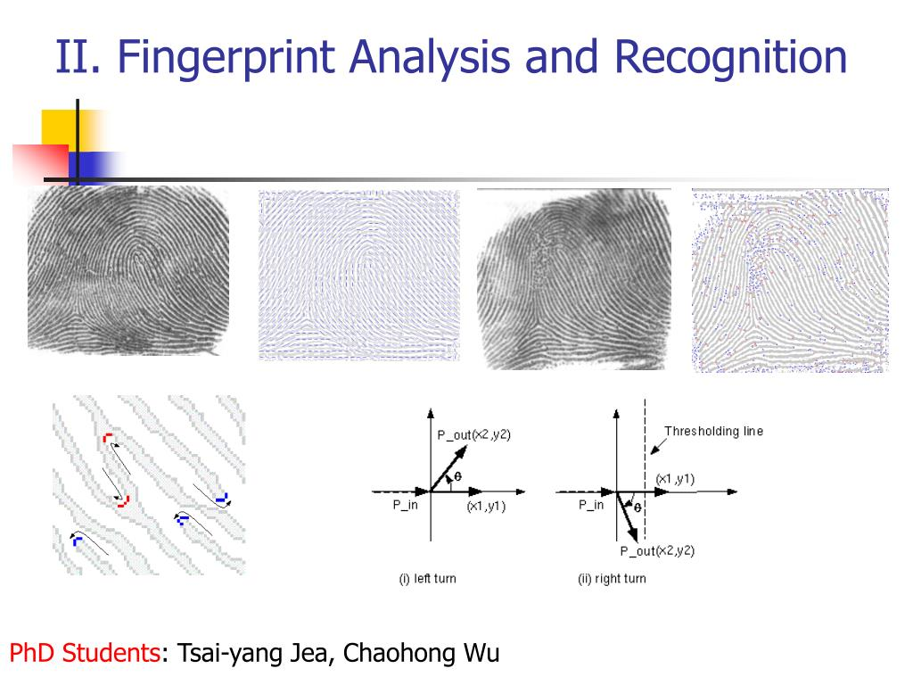 II. Fingerprint Analysis and Recognition