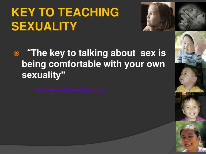 Key to teaching sexuality
