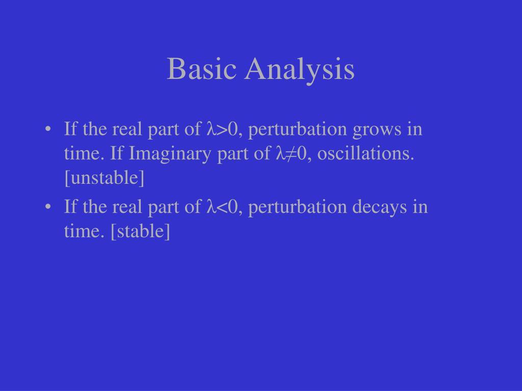 Basic Analysis
