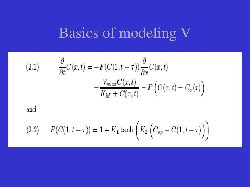 Basics of modeling V