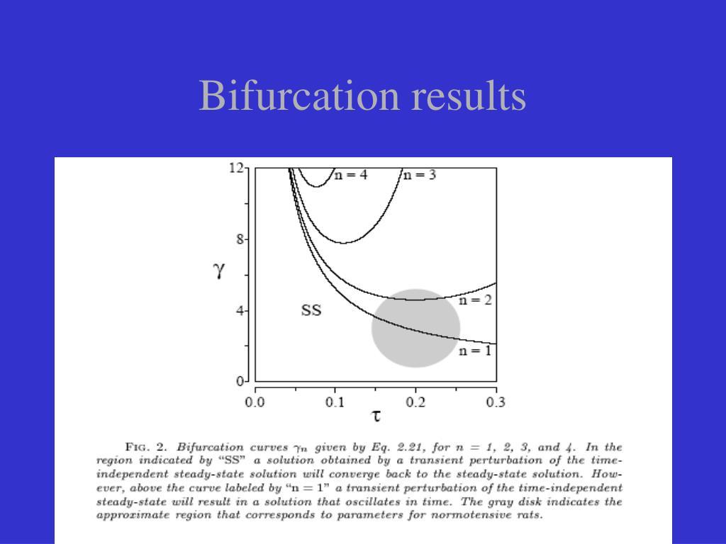 Bifurcation results