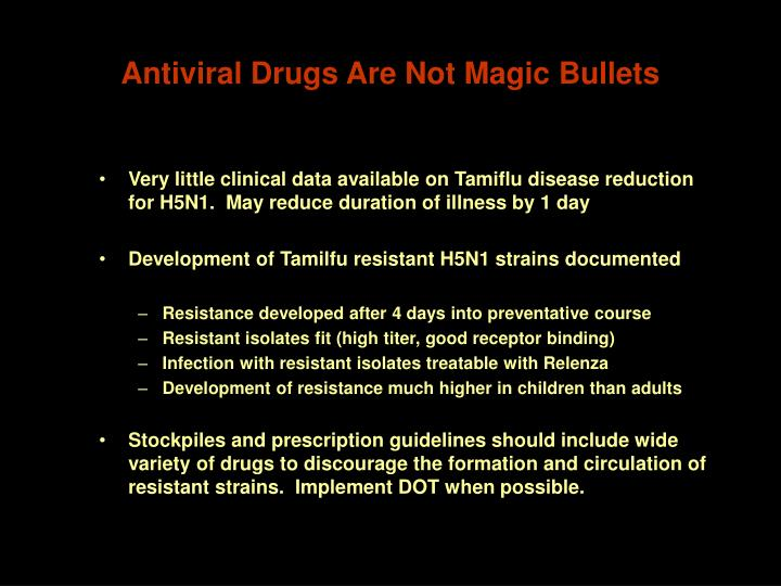 Antiviral Drugs Are Not Magic Bullets