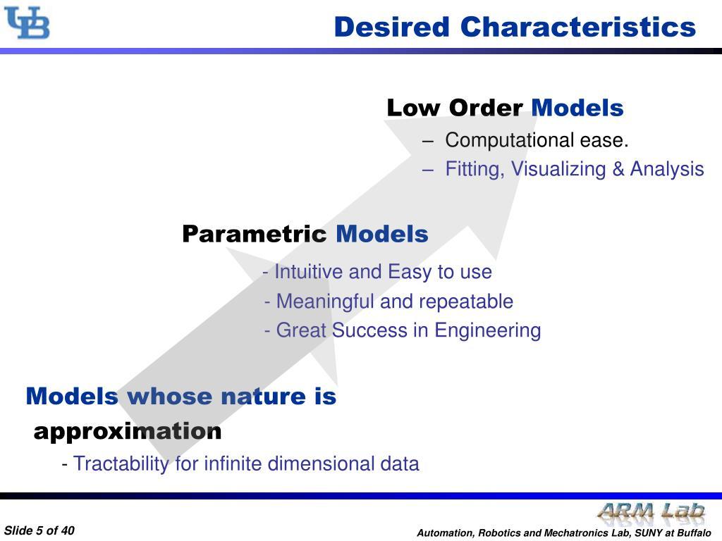Desired Characteristics