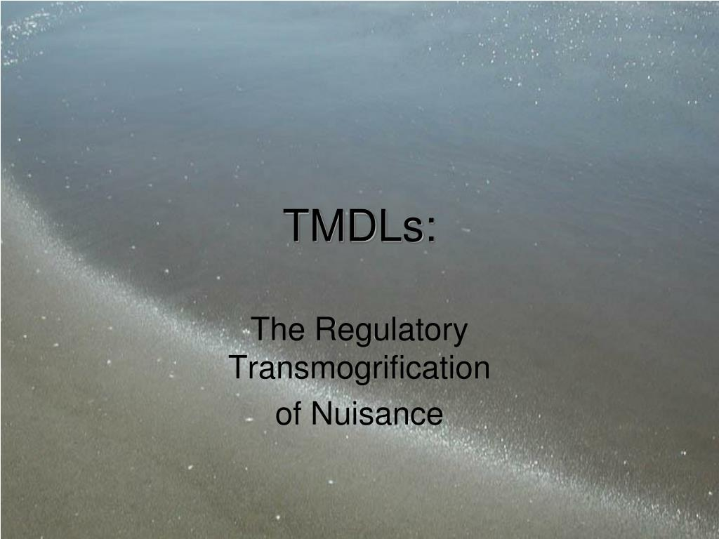 TMDLs: