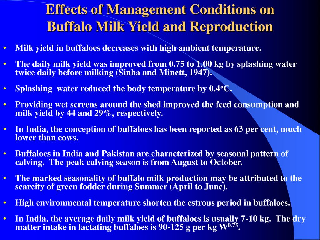 Effects of Management Conditions on
