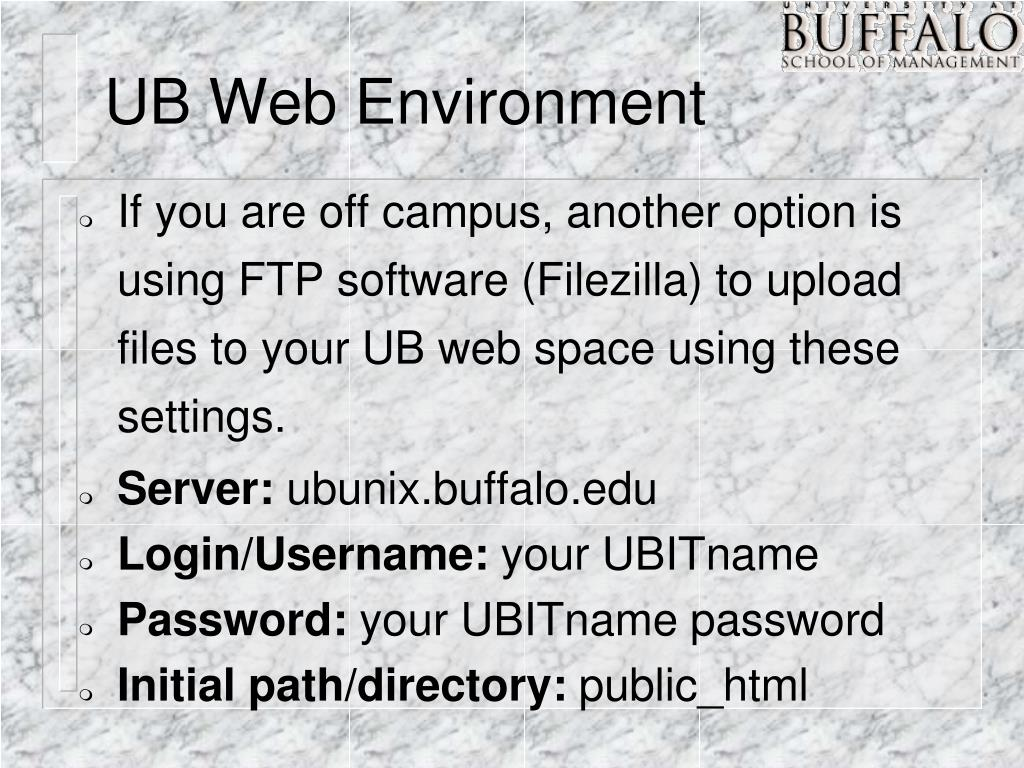 UB Web Environment