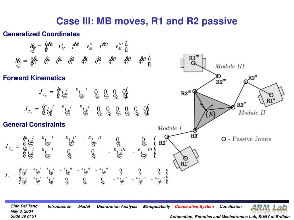 Case III: MB moves, R1 and R2 passive