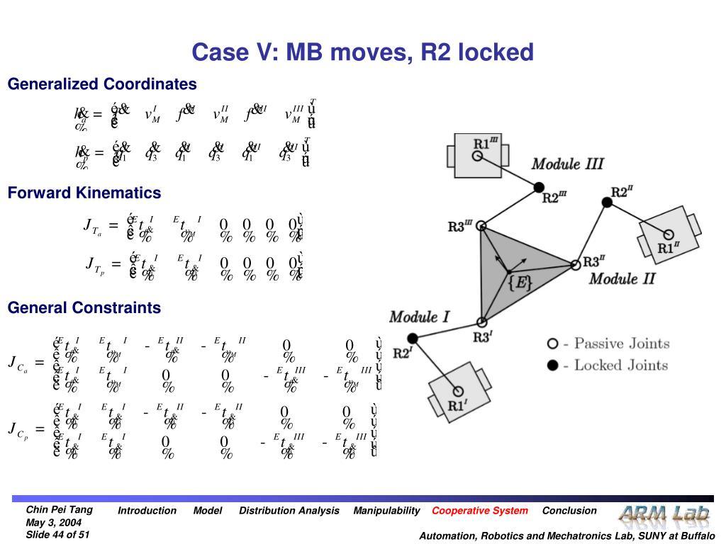 Case V: MB moves, R2 locked