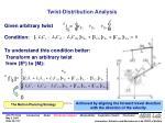 twist distribution analysis22