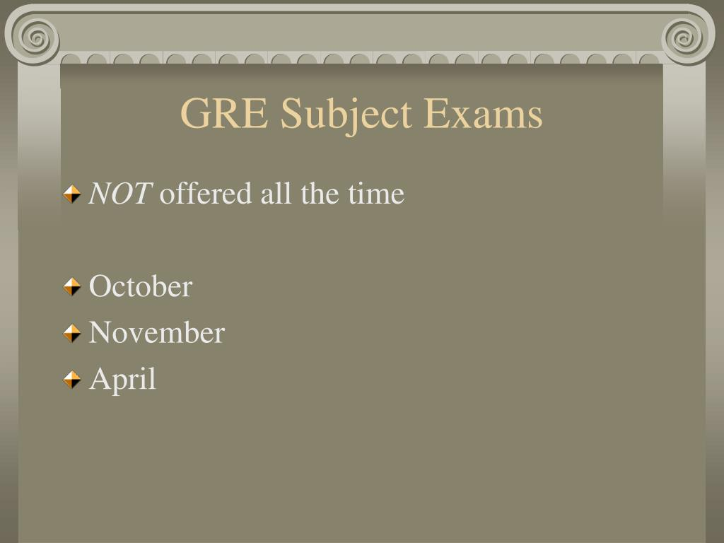 GRE Subject Exams