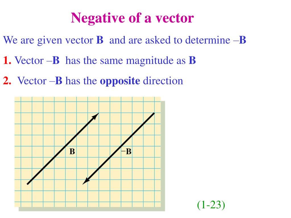 Negative of a vector