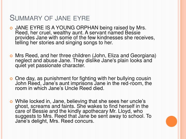 jane eyre conclusion paragraph Essays related to jane eyre 1 although there are no ghosts in jane eyre, in this red-room jane gets the impression that she sees the ghost of her dead uncle.