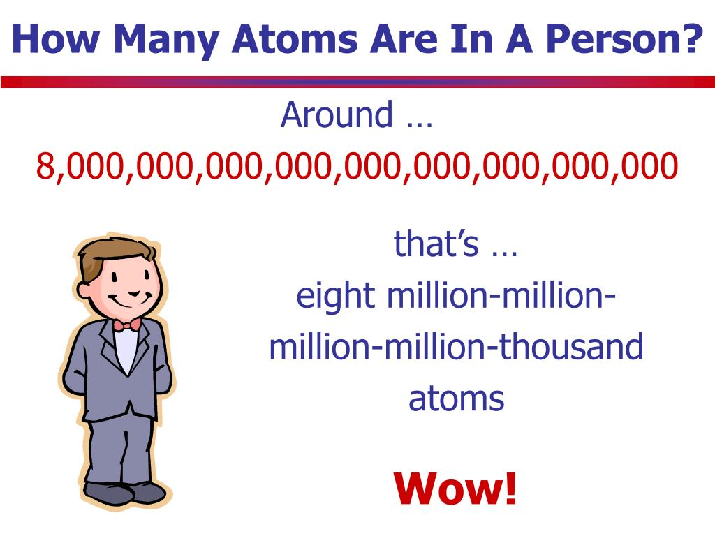 How Many Atoms Are In A Person?