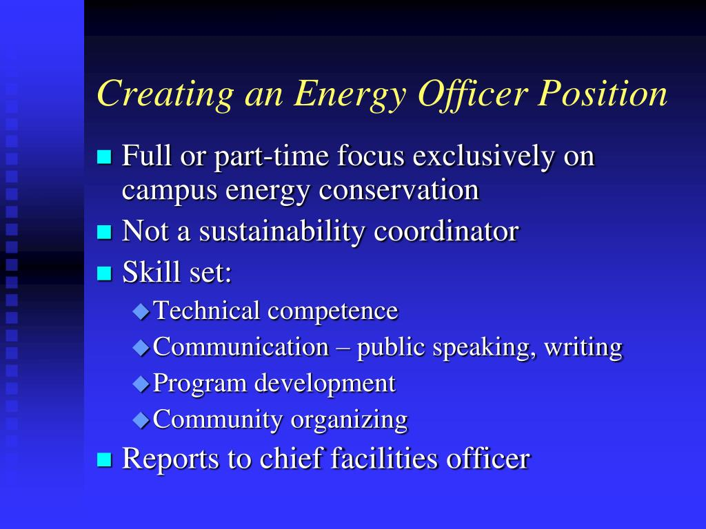 Creating an Energy Officer Position