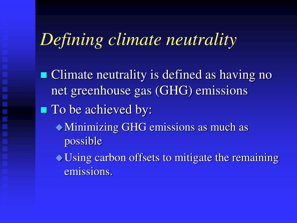 Defining climate neutrality