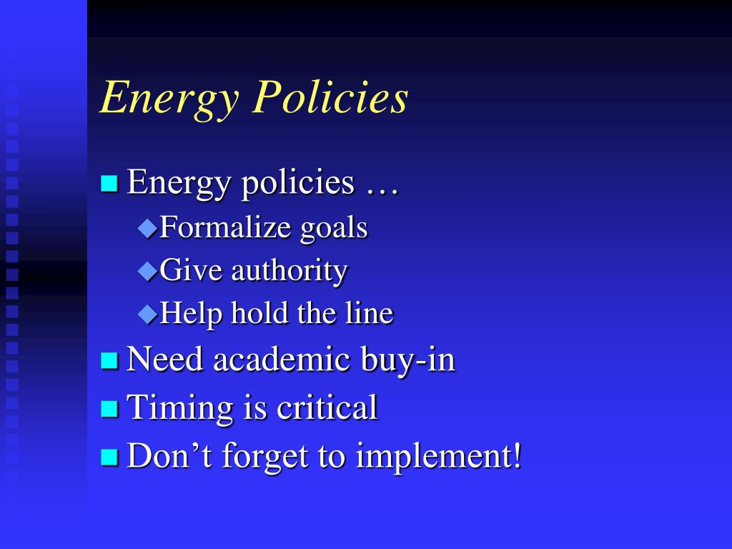 Energy Policies