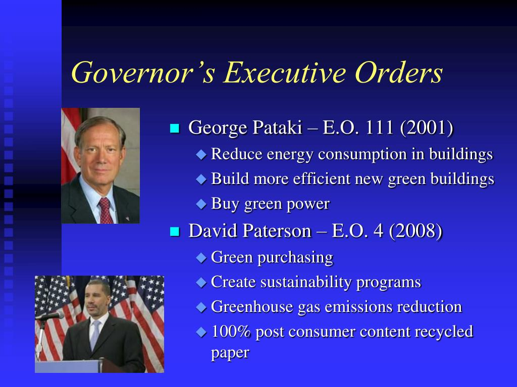 Governor's Executive Orders