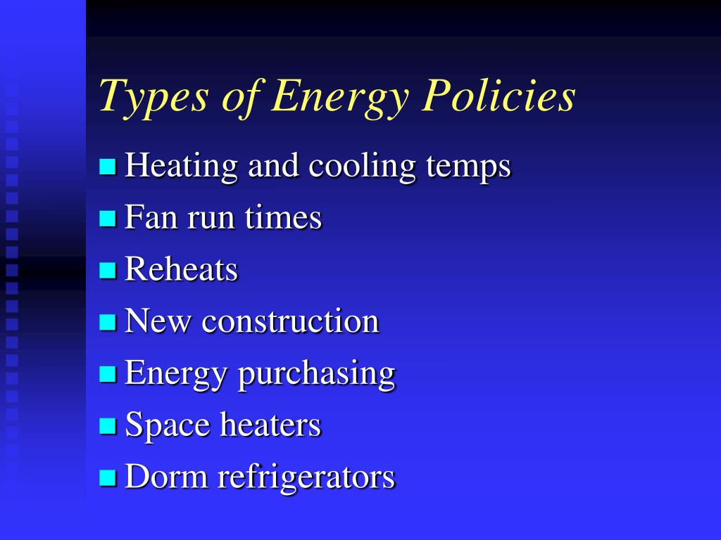 Types of Energy Policies
