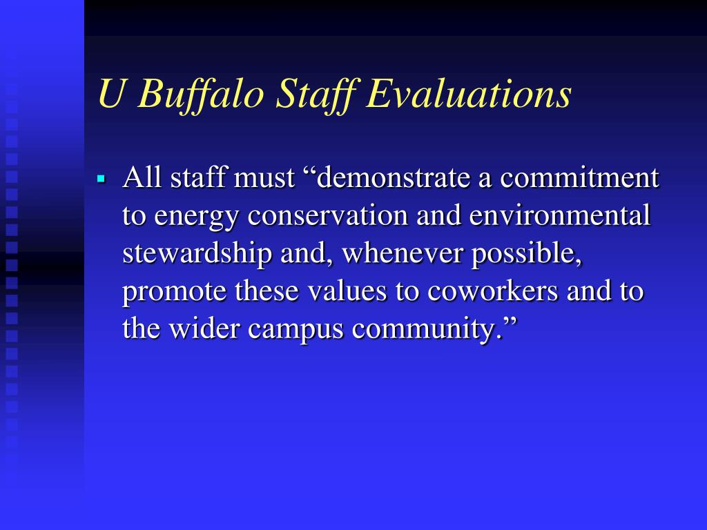 U Buffalo Staff Evaluations
