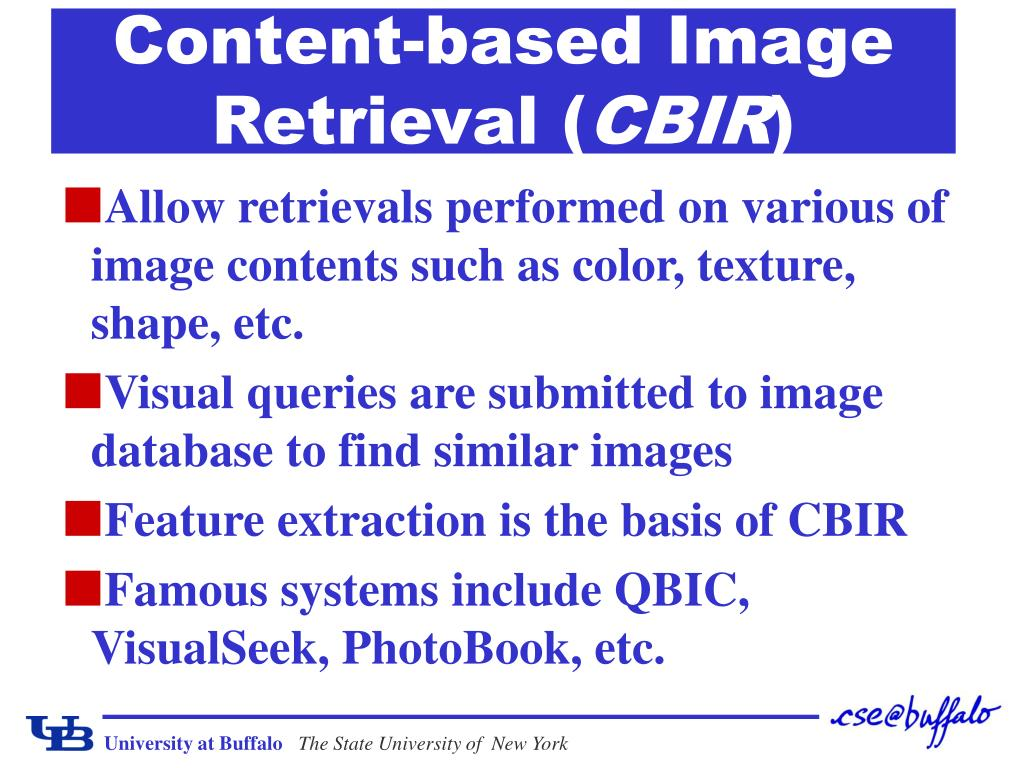 Content-based Image Retrieval (