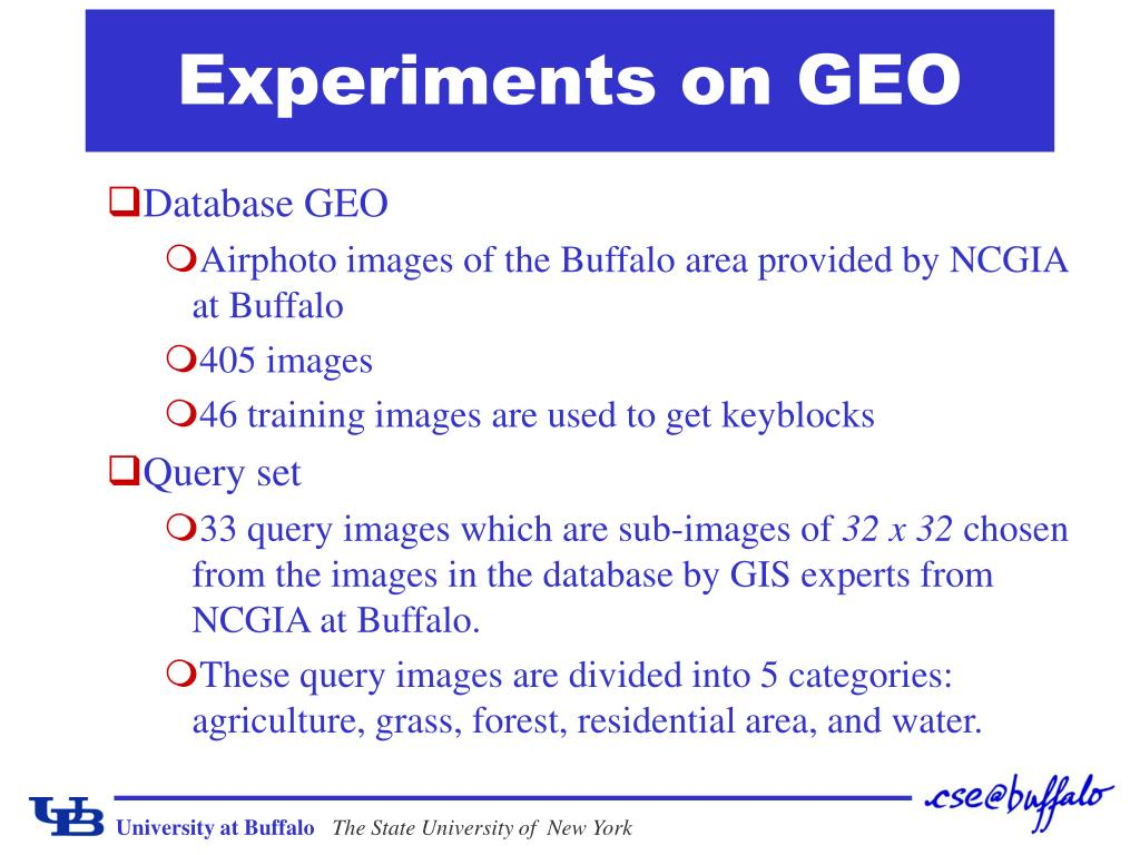Experiments on GEO