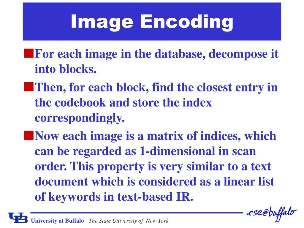Image Encoding