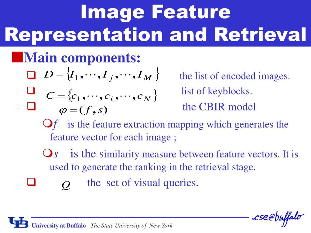 Image Feature Representation and Retrieval