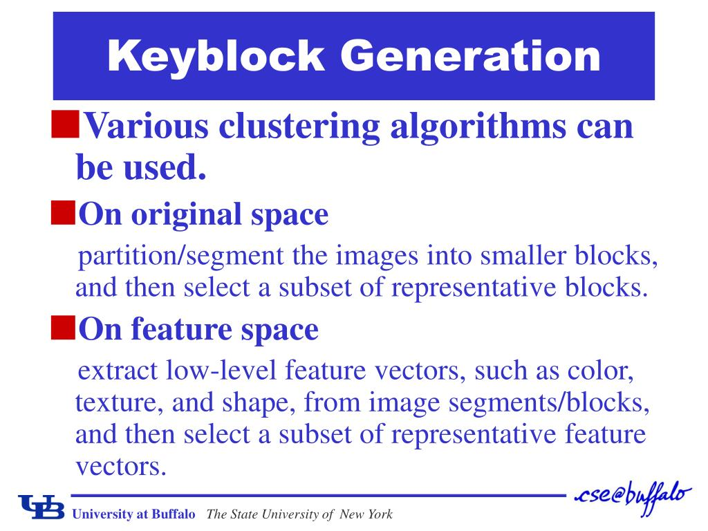 Keyblock Generation