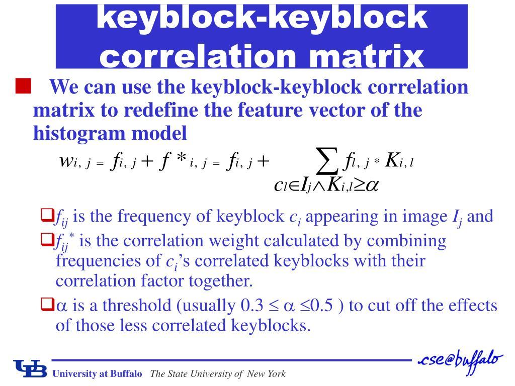 keyblock-keyblock correlation matrix