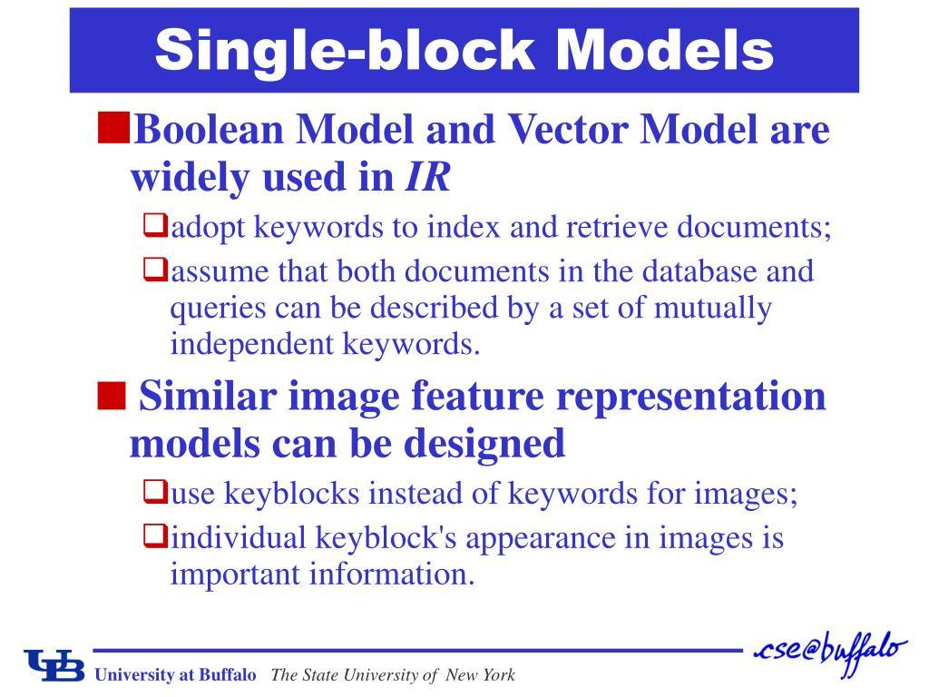 Single-block Models