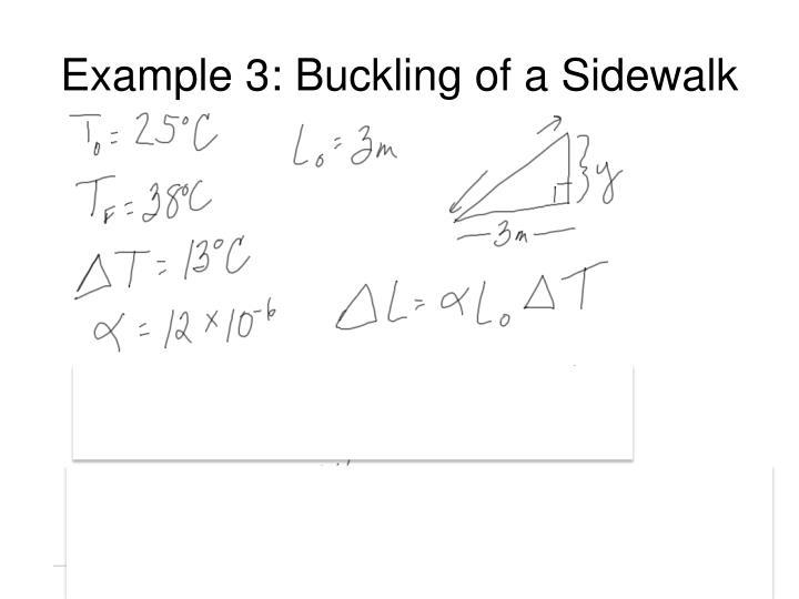 Example 3: Buckling of a Sidewalk