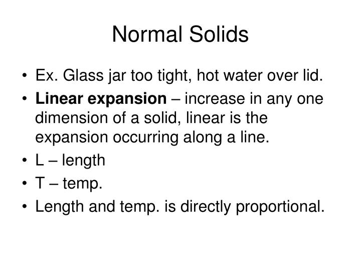 Normal Solids