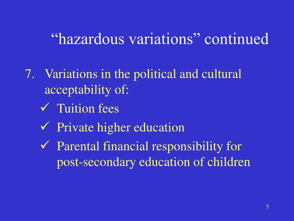"""hazardous variations"" continued"