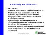 case study hp inkjet cont