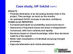 case study hp inkjet cont20