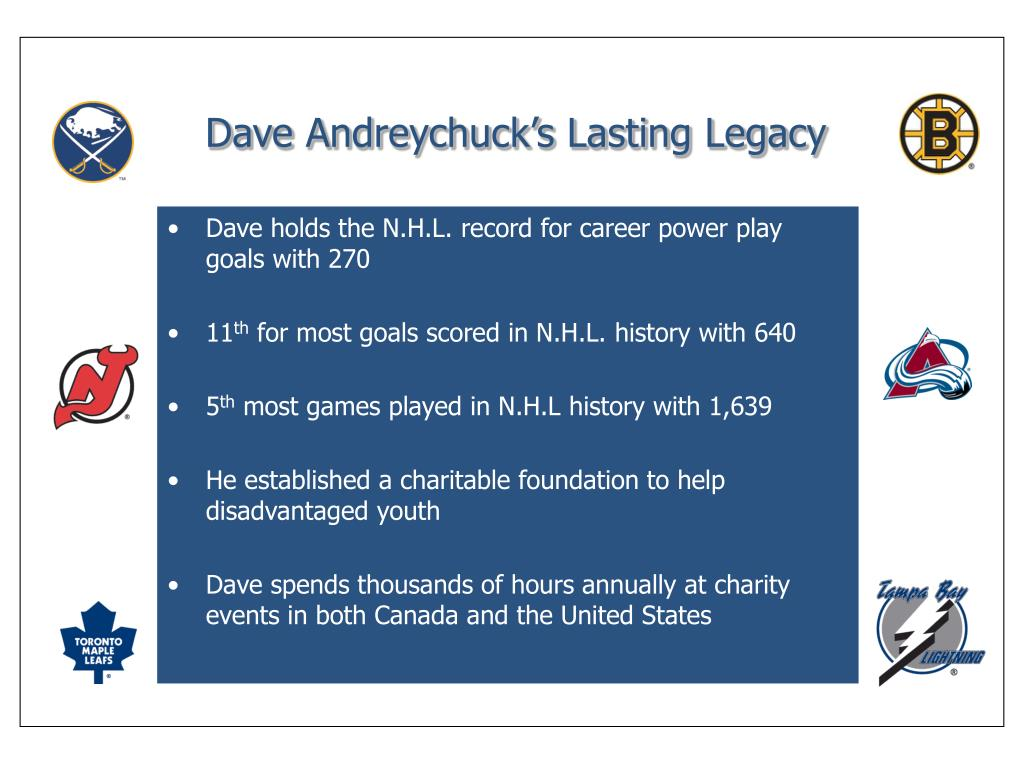 Dave Andreychuck's Lasting Legacy