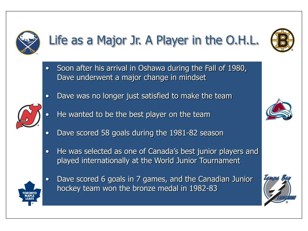 Life as a Major Jr. A Player in the O.H.L.