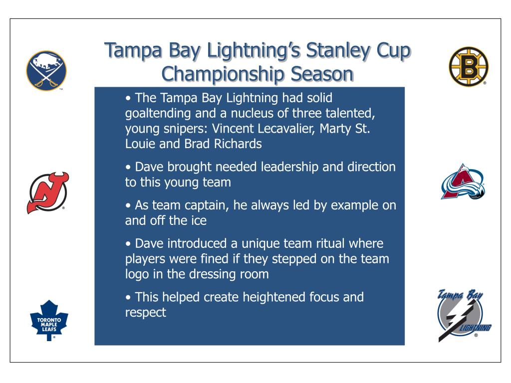 Tampa Bay Lightning's Stanley Cup Championship Season