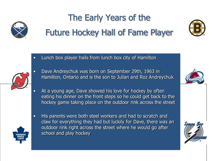 The early years of the future hockey hall of fame player l.jpg
