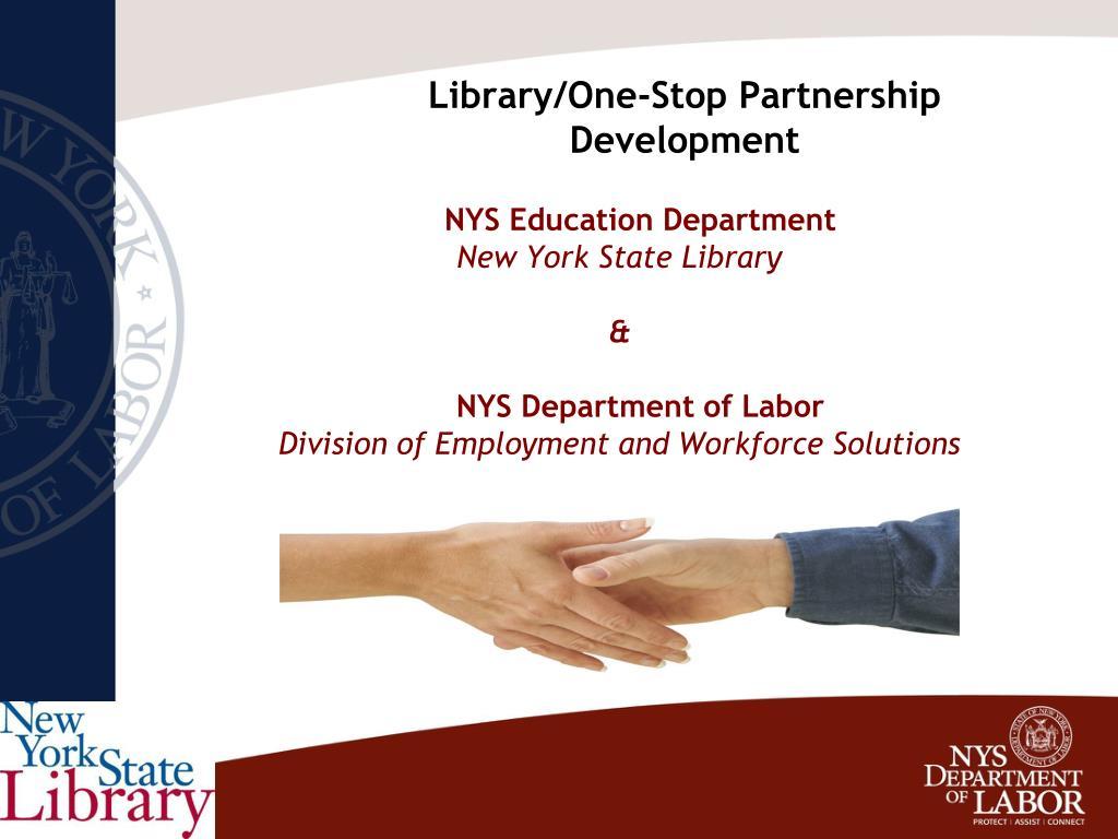 Library/One-Stop Partnership Development