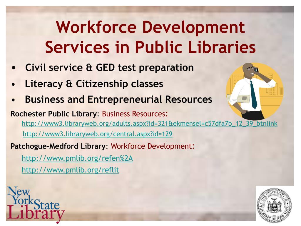 Workforce Development Services in Public Libraries
