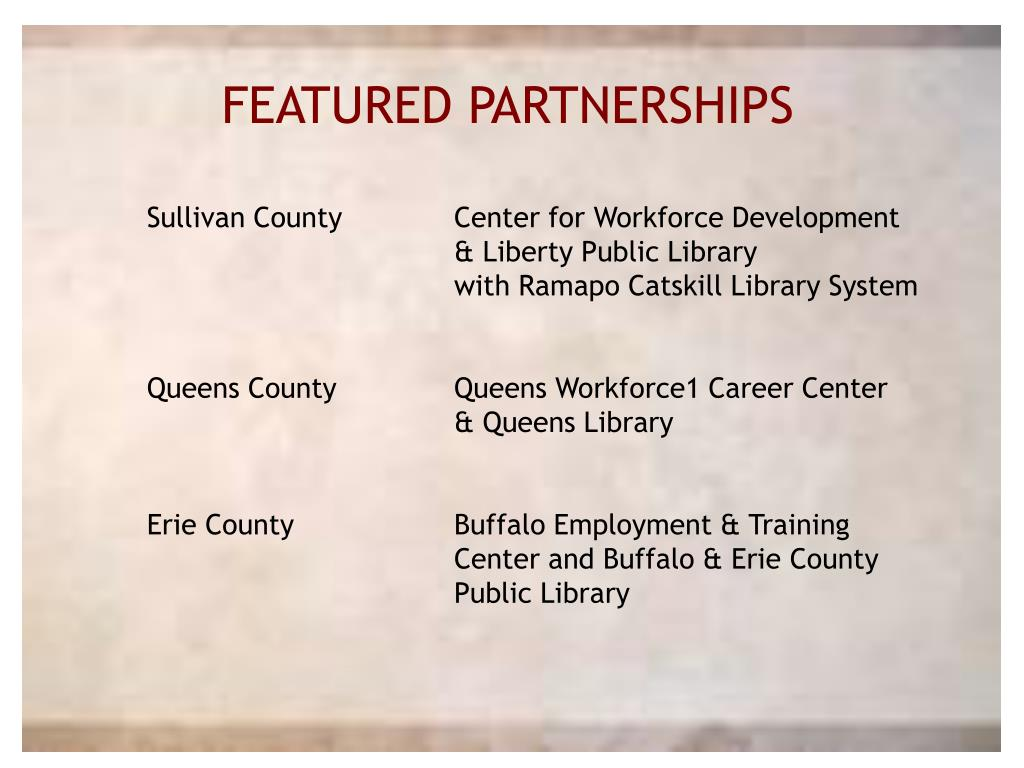 FEATURED PARTNERSHIPS