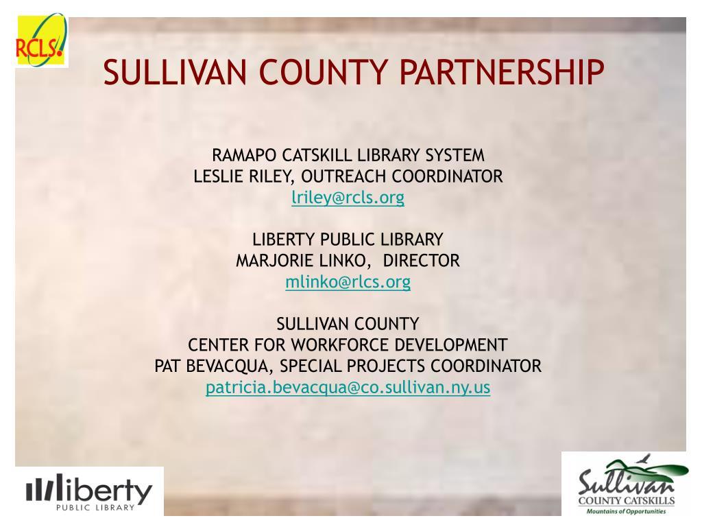 SULLIVAN COUNTY PARTNERSHIP