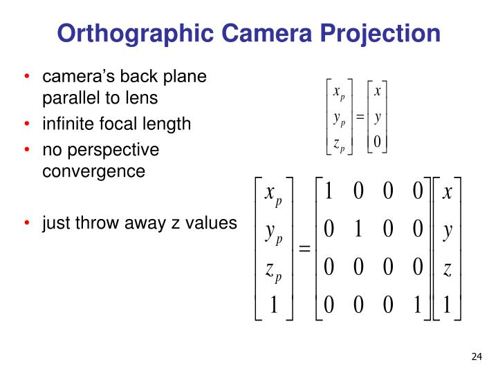 Orthographic Camera Projection