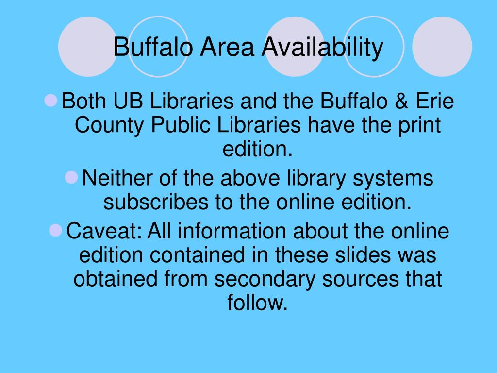 Buffalo Area Availability
