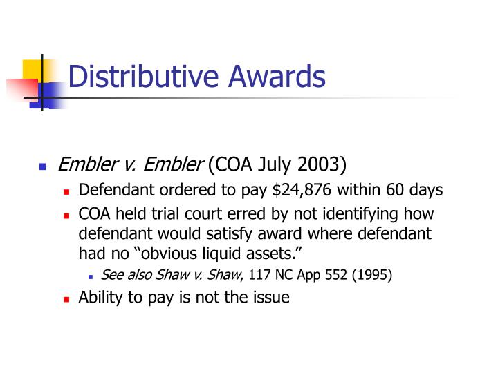 Distributive Awards