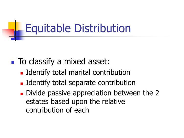 Equitable Distribution