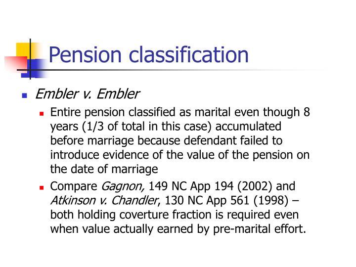 Pension classification