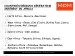 countries regions generating interest in africa